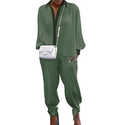 Chándal de Mujer Dos Piezas Trajes Chándal Sudadera con Capuchacon + Pantalones Largos Mono 2PCS / Set