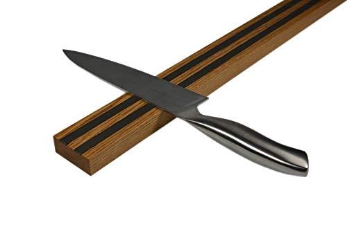 die magnetprofis magnete und mehr Magnetische Messerleiste, Magnetleiste, Holzleiste aus Eiche 500 mm massiv, NEU mit 2-fachem Magnetkern