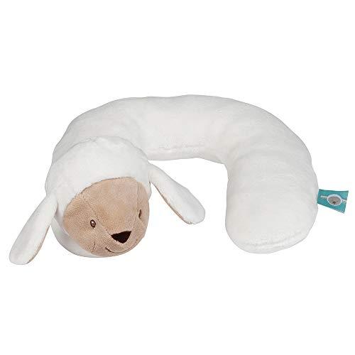 Nattou Nackenkissen Schaf Tim, Für Babys ab 0 Monaten, 21 × 23 × 10 cm, Fanny und Oscar, Weiß/Beige