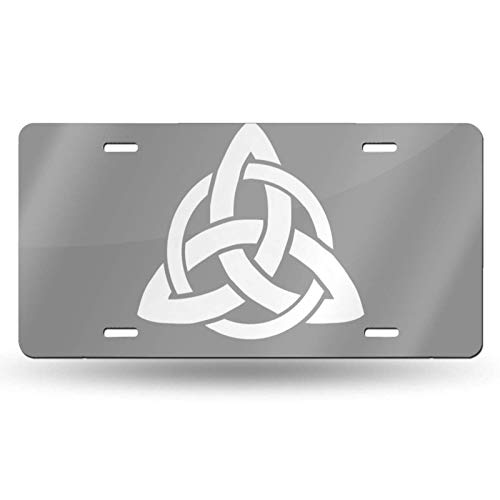 WUEPO Cool Celtic Trinity Knot Novelty License Plate Cover Vanity Metal Tag for Front of Car 6 x 12 Inch
