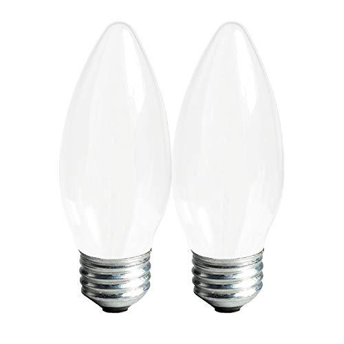 GE Dimmable LED Light Bulbs, Blunt Tip Decorative Light Bulb, 4 Watt (40 Watt Replacement) 300 Lumen, Soft White, Medium Light Bulb Base, 2-Pack LED Bulbs