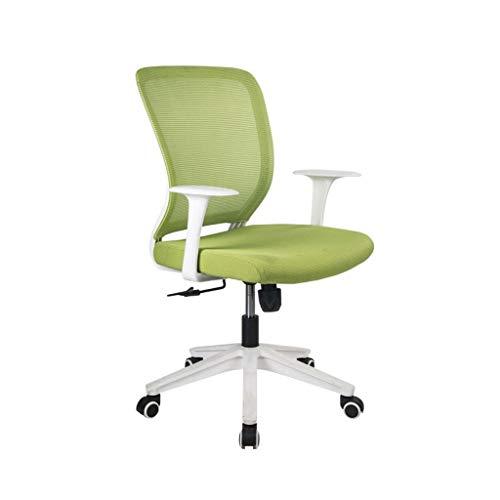 PDVCB Silla de Oficina, cojín de la Silla de elevación Ordenador ergonómico de Malla Ministerio del Interior Reunión Silla Silla de Oficina Esponja (Color : Green)