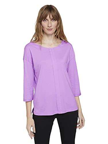 Tom Tailor 1023615 Basic Camiseta, 26321 Heather Lilac, XXXL para Mujer