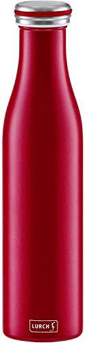 Lurch 240926 Isolierflasche / Thermoflasche für heiße und kalte Getränke aus Doppelwandigem Edelstahl, 0,75l, Bordeaux