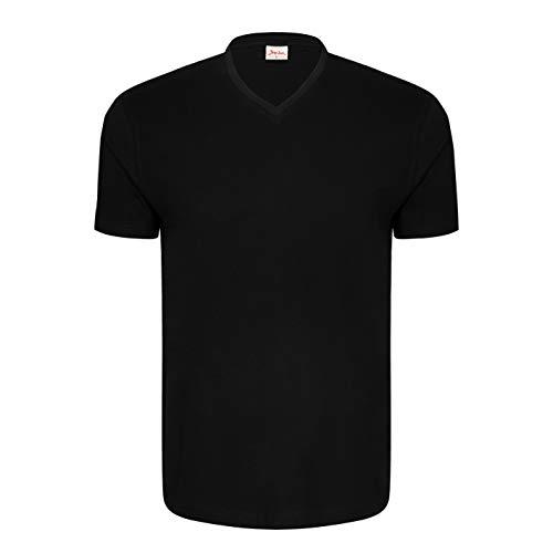 Signum - Camiseta de Manga Corta con Cuello Pico para