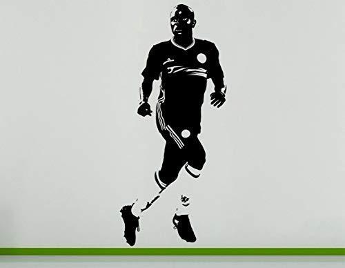 N Golo Kante Französischer Fußballer Fußball Spieler Wand Aufkleber - Silbern, 25 cms wide x 56 cms high