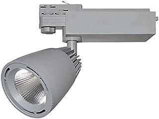 Vision-EL 78350 Spot LED sur Rail Gris 40W 4000°K, Aluminium/Verre, 40 W, Ø 100 mm