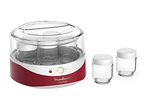 MOULINEX YG229510 Yogurteo Yaourtiere 7 Pots - Rouge et Blanc