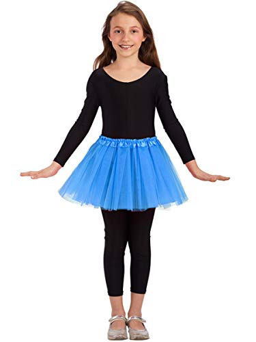Tule rok voor meisje - klassieke dans - rok - meisje - 3 lagen - tutu - 2/7 jaar - ballet - kostuum - vermomming - carnaval - cadeau-idee - kerstmis - lichtblauwe kleur