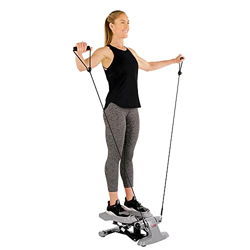 Sunny Health & Fitness Versa Stepper Step Machine w/Wide Non-Slip Pedals, Resistance Bands and LCD Monitor - SF-S0870