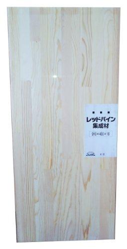 JUMBO レッドパイン集成材 シュリンク済み 910X18X400mm