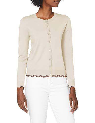 Sisley Women's L/S Cardigan Sweater, Off White 904, M