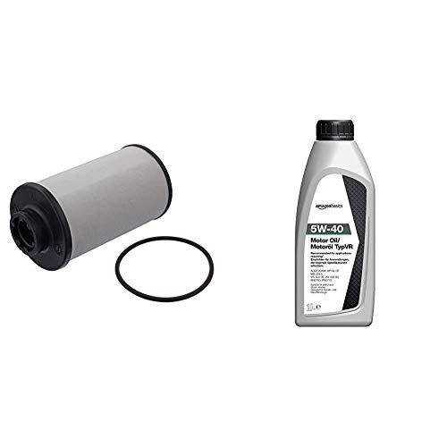 febi bilstein 44176 Filtros de Aceite + Amazon Basics - Aceite de motor 5W-40 TypVR, 1l