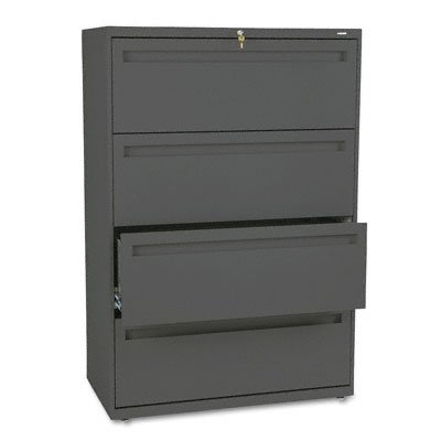 HON 784LS 700 Series 36 by 19-1/4-Inch 4-Drawer Lateral File, Charcoal