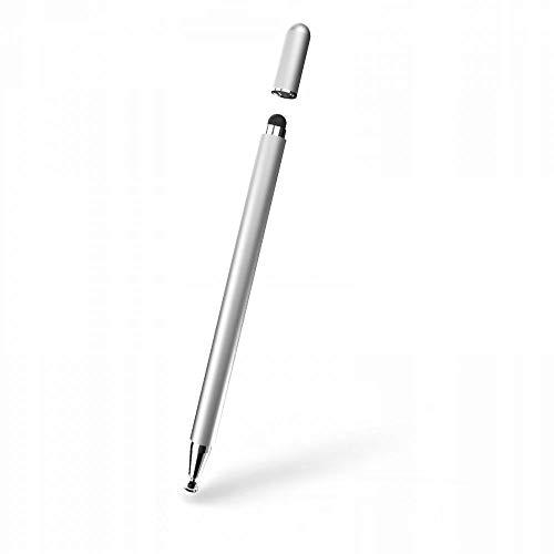 Tech-Protect Lápiz capacitivo magnético – lápiz capacitivo – lápiz táctil | compatible con iPad, iPhone, Samsung | compatible con todos los dispositivos de pantalla táctil capacitiva, color plateado