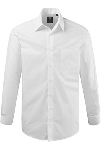 JP 1880 Herren Hemd Variokragen Freizeithemd, Weiß 20), 49/50, (Herstellergröße: 4XL)