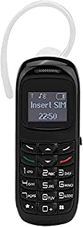 MiRUSI Kleinste mini-mobiele telefoon GSM Unlocked BM70 mobiele telefoon (zwart)