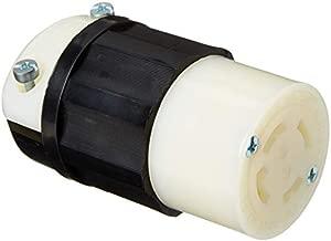 Leviton 2733 30 Amp, 480 Volt 3-phase, NEMA L16-30R, 3P, 4W, Locking Connector, Industrial Grade, Grounding - Black-White