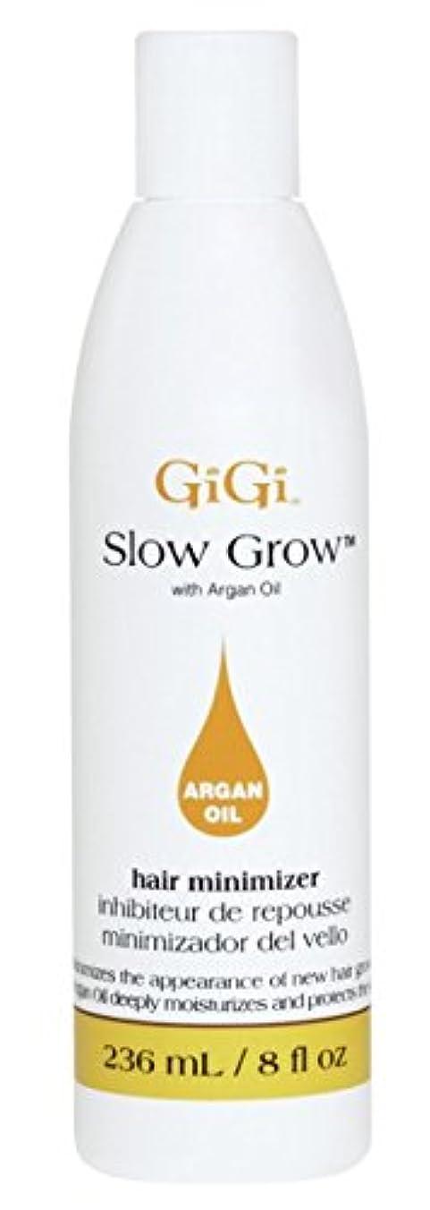 誓う免除するうまれたGigi Slow Grow With Argan Oil Hair Minimizer 235 ml (並行輸入品)