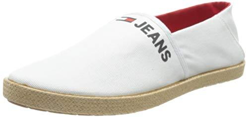 Tommy Jeans Logo Espadrille Uomo, Bianco, 44.5 EU
