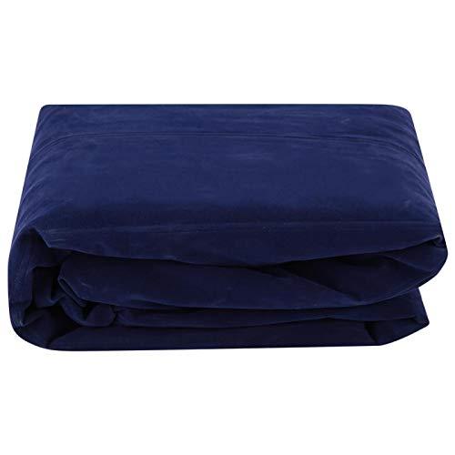 Qini Aufblasbare Liege, verschleißfeste Air Chair Camping Air Sofa Luftbett S-Form Aufblasbare Liege Aufblasbares Sofa Atmungsaktiv für Innenhof Wohnzimmer, Outdoor(Blue, 10)