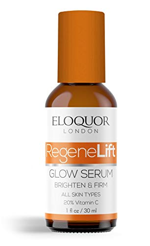 Eloquor RegeneLift Glow Serum | Anti-Aging Face Moisturiser with Vitamin C, Aloe Vera & Sodium Hyaluronate | Targets Blemishes & Brightens Complexion | Natural, Organic & Cruelty-Free | All Skin Types