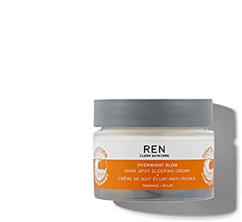 REN Clean Skincare Overnight Glow Dark Spot Sleeping Cream 1.6 Fl Oz