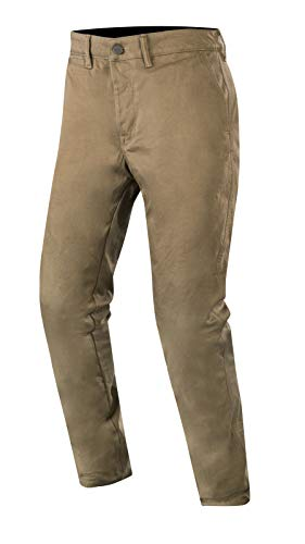 Alpinestars Men's Motochino Textile Street Motorcycle Pant, Dark Khaki, 32