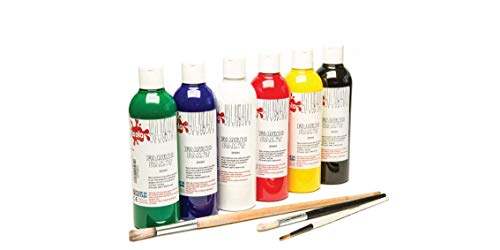 Scolaquip Pittura per Tessuto, Materiali Artistici Educativi per Bambini, 6 x 150ml, Colori Assortiti