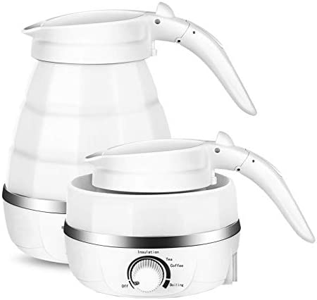 zefeng Portable Foldable Electric Kettle Dry Protection with Dual Voltage and Separable Power product image