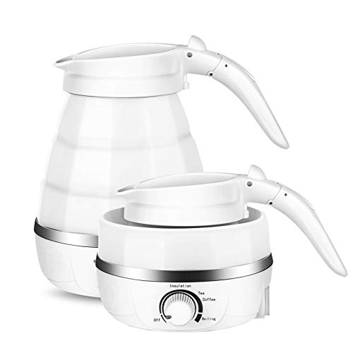 zefeng  Portable Foldable Electric Kettle Dry Protection with Dual Voltage and Separable Power Cord for Home Traveling Hotel Office School Hospital Restaurants 600ML 110V240V