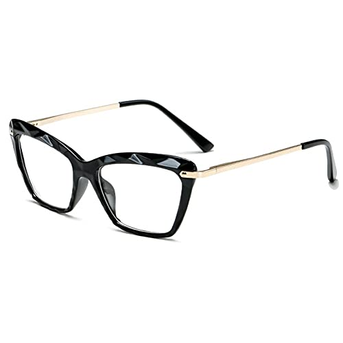 Vidrios Anti-azules De Marco De Metal Para Mujeres Espejo Plano Gafas Ópticas Transparente #2826 (Frame Color : No1)