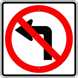 No Left Turn Symbol – Signs Traffic 3 Our shop OFFers Genuine Free Shipping the best service Units Regulatory