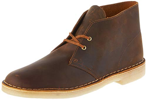 Clarks Originals Herren Kurzschaft Stiefel Desert Boots, Braun (Beeswax Leather), 42.5 EU