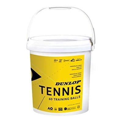 Dunlop 601341 Pelota de Tenis, Training - Cubo de 60 Pelotas