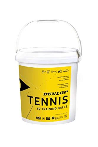 Dunlop Tennisball Training - 60 Bucket, 601341 Einheitsgröße, Gelb