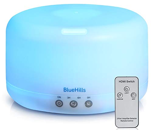 BlueHills Premium 1000 ML XL Essential Oil Diffuser Aromatherapy Humidifier with Remote for Large...