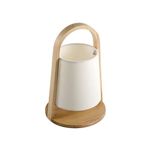 Lámpara portátil de estilo japonés Tatami Lámpara de pie Creativa Homestay Original Madera maciza Arte Nórdico NUEVO NUEVO Dormitorio Chino Lámpara de noche Simple y moderna (Luz de cálida LED 3W LED