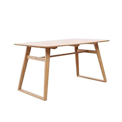 Rechthoekig massief houten maaltijdbureau, binnenhandel handel duurzame eettafel, pool sofa white oak diner Activity Table,