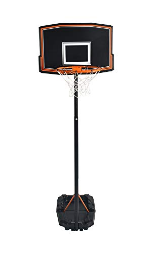 Swager Panier de Basket Ball sur Pied, Hauteur réglable (5 Niveaux réglables), avec roulettes - Choix Entre 2 modèles (2 Tailles différentes) (de 1.65 à 2.20 m)