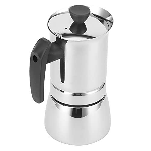 Cafetera de espresso clásica para estufa, cafetera Moka, cafetera de acero inoxidable, cafetera portátil para preparar café espresso en casa, adecuada para la oficina en casa(20 * 13 * 12 587)