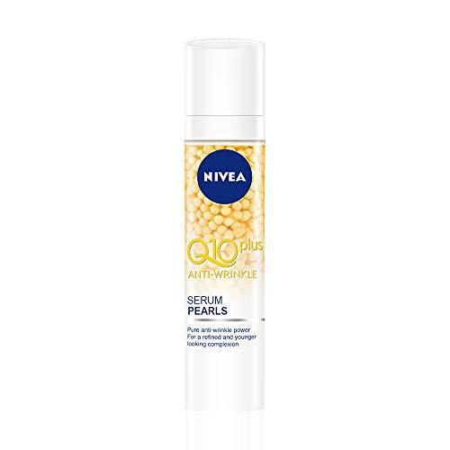 NIVEA Q10 Power Serum Perlas Antiarrugas + Firmeza (1 x 40 ml), sérum facial antiarrugas con creatina, ácido hialurónico y coenzima Q10, sérum reafirmante