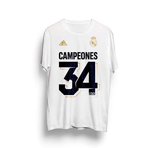 adidas Real Madrid Campeón LaLiga 20, Camiseta, White