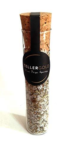 Tellergold - Fleur de Sel Kräuter der Provence - kostbares Flor de Sal aus Portugal - 20g - Salzmischung von Hand veredelt | Reagenzglas.