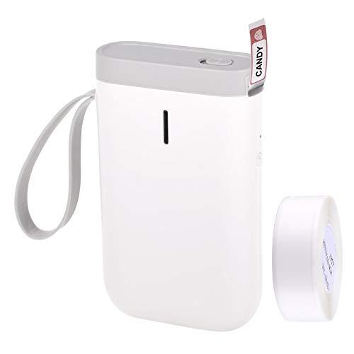 Aibecy Impresora térmica portátil de Etiquetas Nombre de Mano Impresora de Etiqueta de Precio BT Conexión con Cable USB para la Tienda de supermercados de Oficina en casa