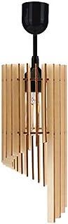 Suspension en bois - Différentes variantes - Culot E27 - Rétro - Vintage - Lampe en bois - Éclairage de série VDA (suspens...