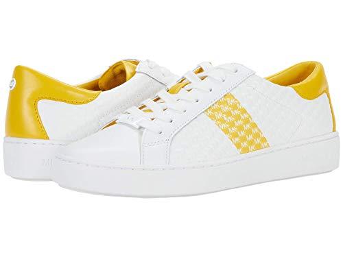 Michael Michael Kors Colby Sneaker Damen Weiß/Gold Low Top Sneaker Schuhe, Gelb (sonnenblume), 36 EU