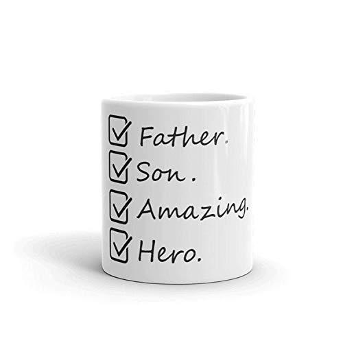 Amazing Father's Mug - Father's Day Mug - Best Dad Mug - Dad's Favorite Coffee Mug - Best Son Coffee Mug - Dad Hero Coffee Mug 11oz