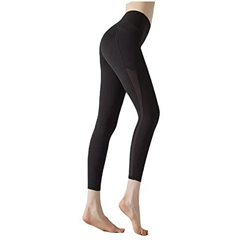 sdawa Leggings de Gimnasio sin Costuras para Mujer, Mallas para Correr con Bolsillos, Mallas de Control de Barriga de Cintura Alta