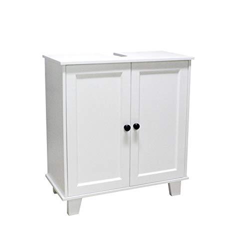 Happy Home Waschbeckenunterschrank weiß Unterschrank Waschbecken Bad Möbel Schrank